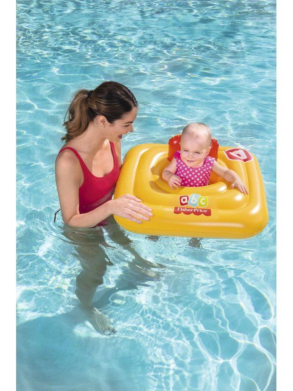 Bestway 93519 Fisher Price Swim Safe Baby Support Step A Vinyl Yellow Swim  Float 76cm 30\