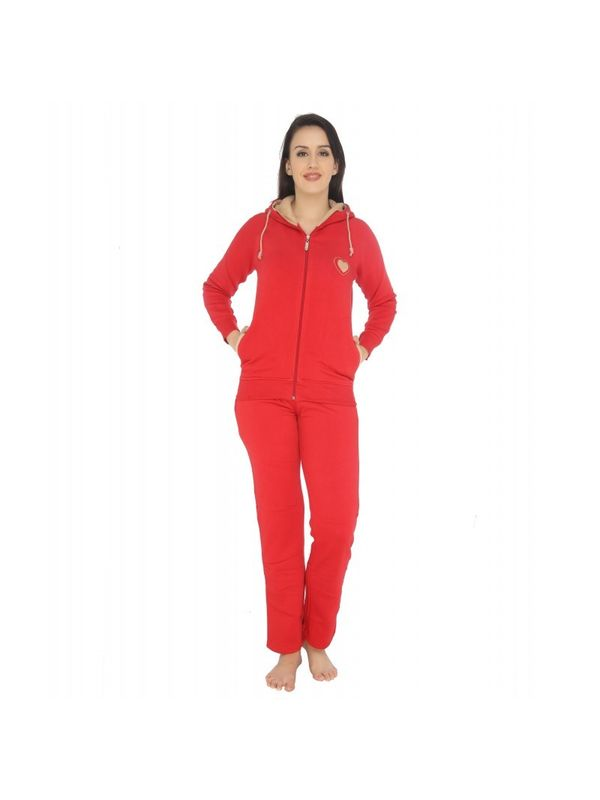 Red Velour Pajama Set
