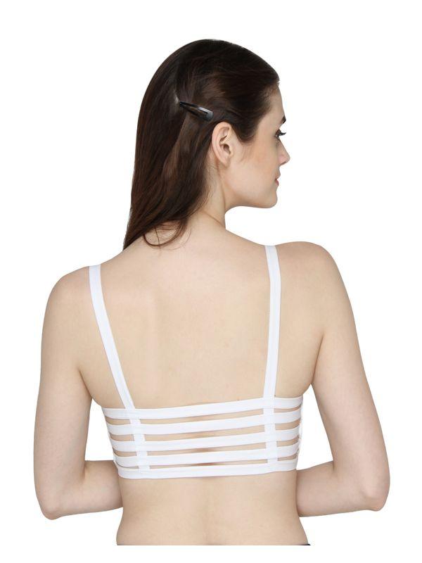 Six Strap Bralettes - White