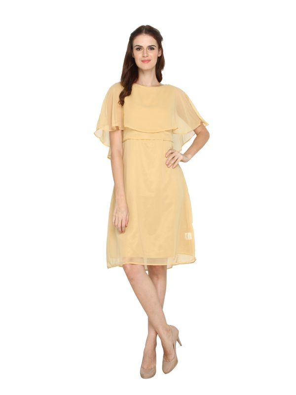 La Zoya Gold Cape Dress