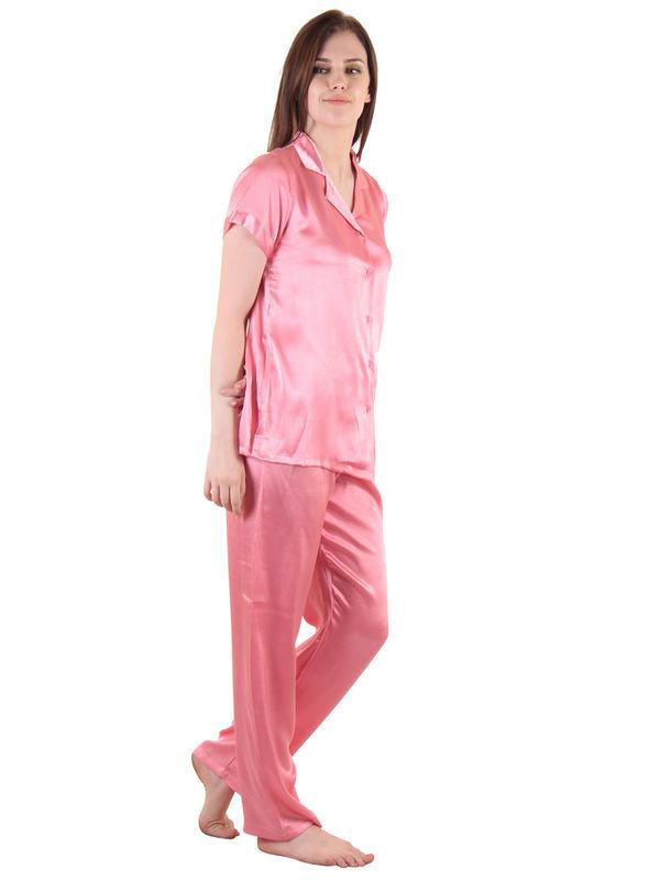 Peach Satin Top & Pajama