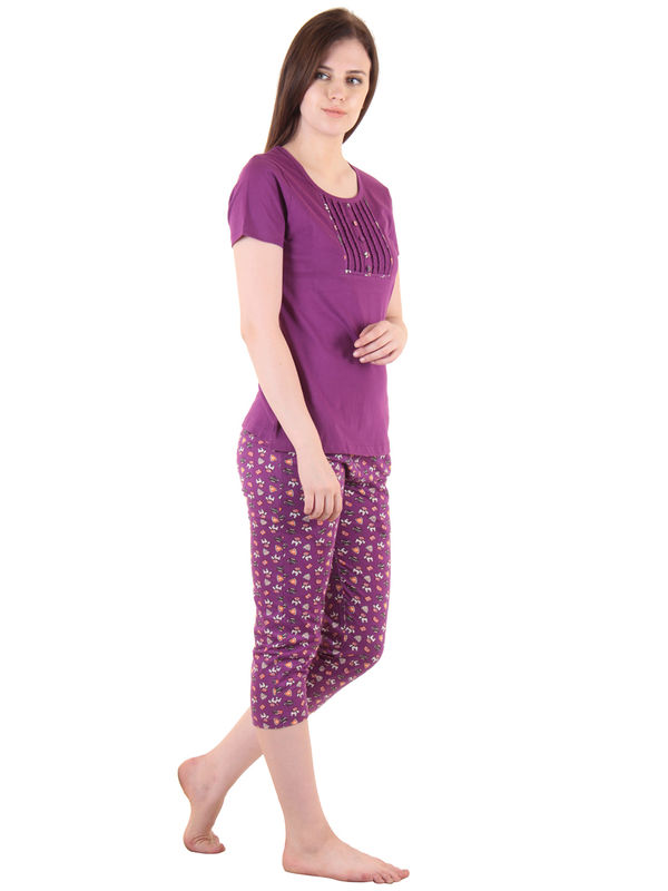 Purple Hosiery Top & Capri
