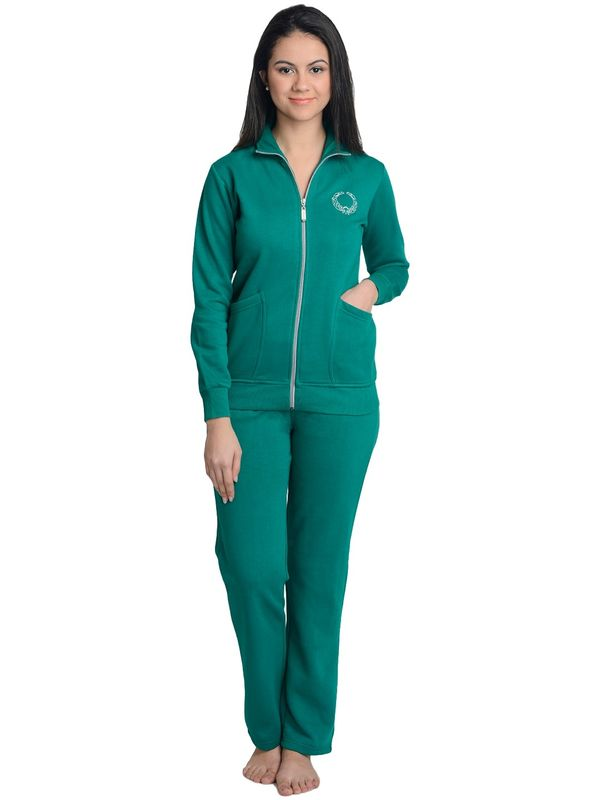 Night Suit in Bottle Green Colour