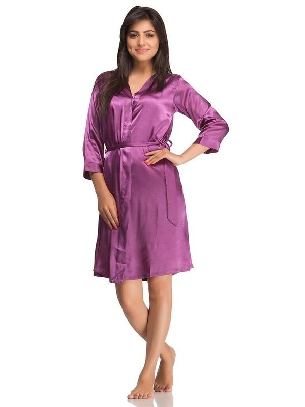 b166a5fa99b Shop Short Nighty Purple Online at Low Price