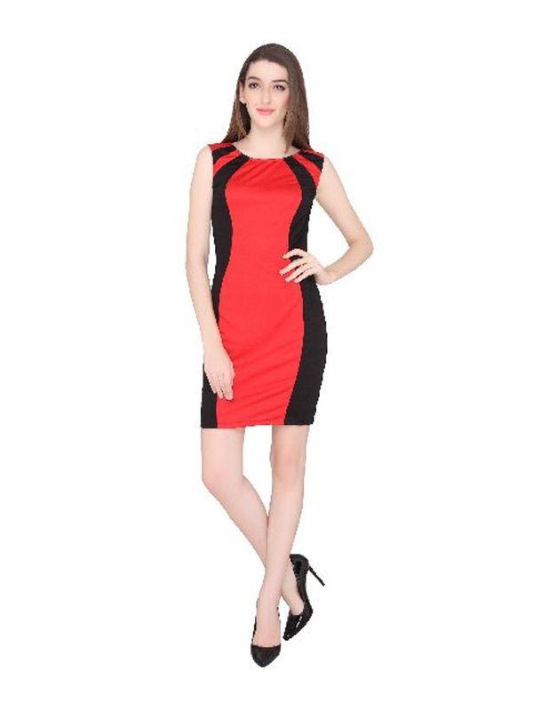ef6419c661 Buy Karina Red black Dress Online at Low Price