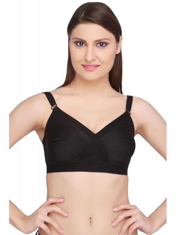 Cotton Black Bra