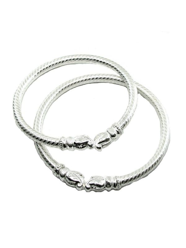 bangles in made dp amazon arrow ridged indian com jewellery pair silver west sterling