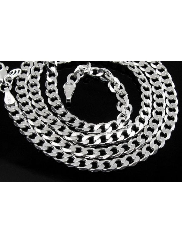 82134898eab Real Solid .925 Sterling Silver Curb Link Design 4mm Men s Chain 20