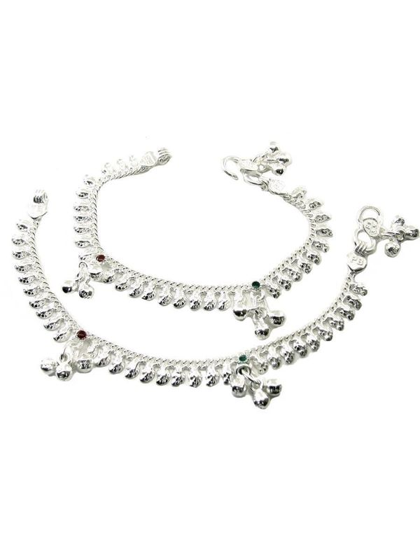 snake silver italy real anklet sterling jewelry ankle product chain ball bling bracelets bracelet zoom