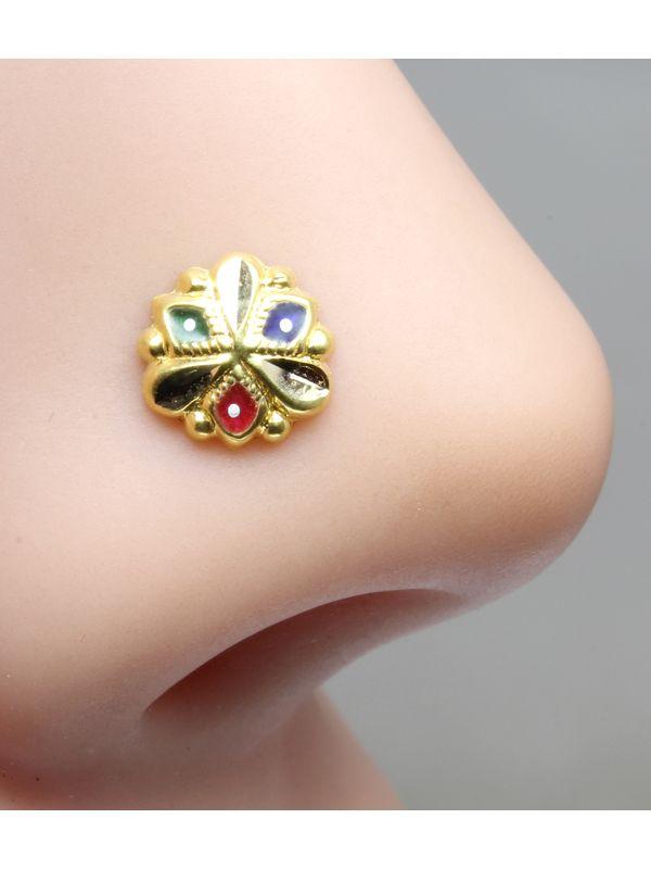 Body Piercing Jewelry Jewelry Watches Garnet Nose Stud Indian