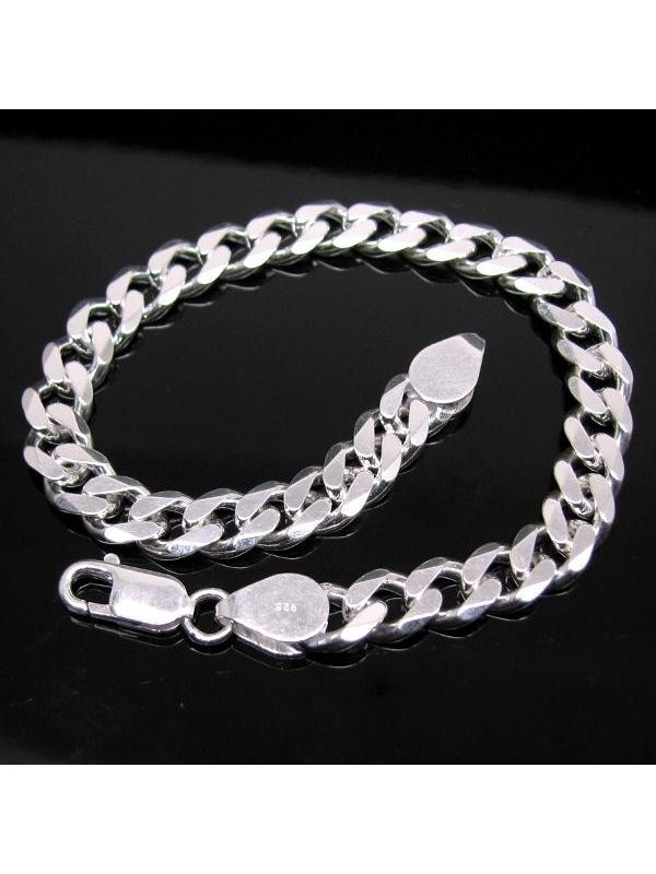 Solid Genuine 925 Sterling Silver Curb Link Chain Men S