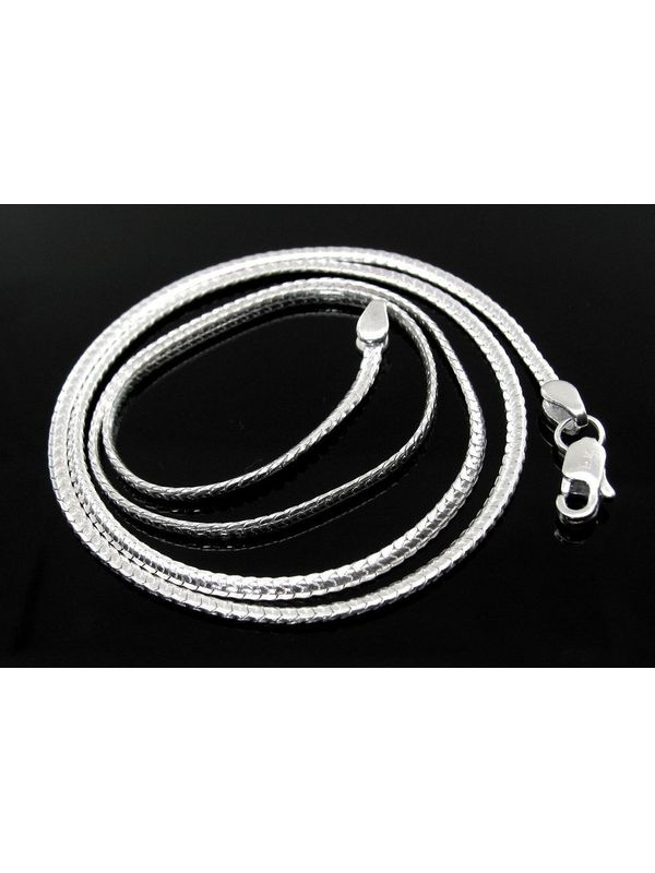 chain chains necklace solid silver sterling curb round sn