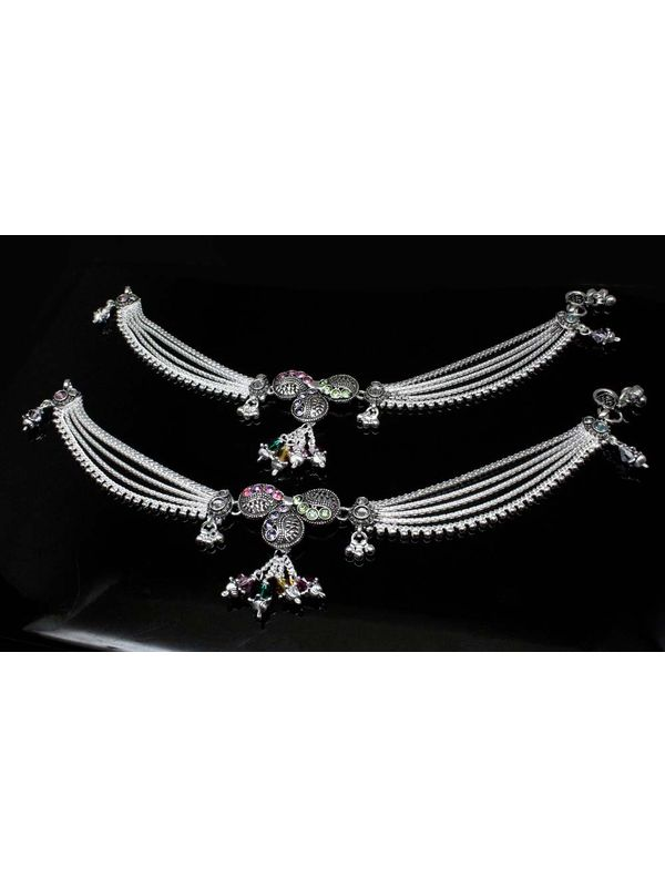 Buy Indian Silver Anklets For Women Ladies Payal Jewelry