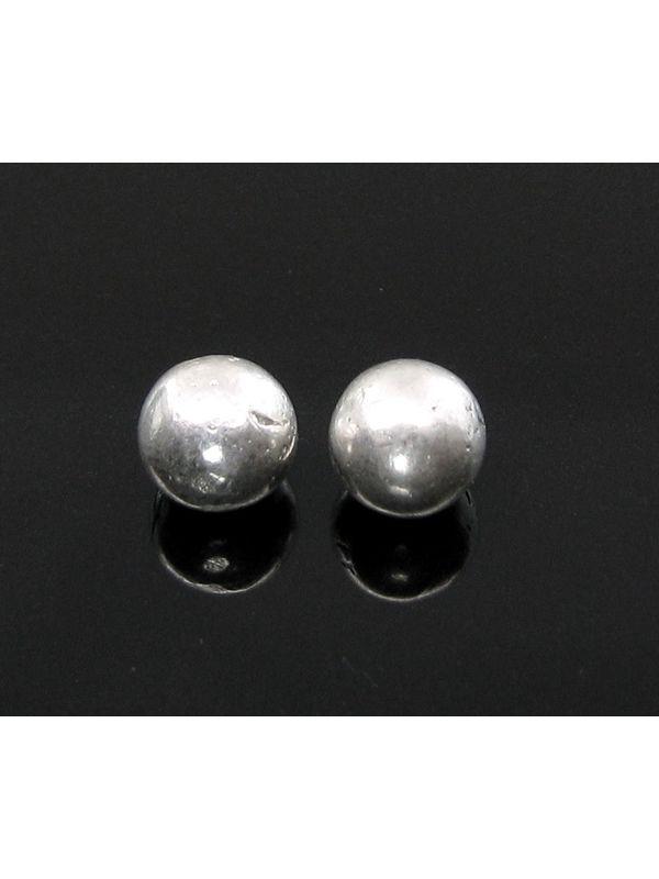 2pc Solid Pure Silver Full Round Balls chandi ki thos Goli 6 1mm