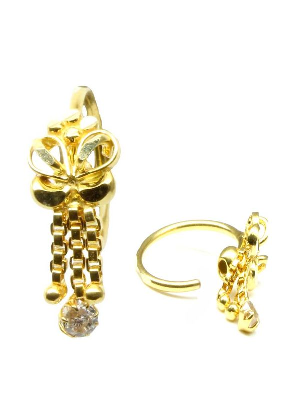5cf831f14 ... Nose Hoop Ring 14k Solid Yellow Gold. Zoom · Gold ...