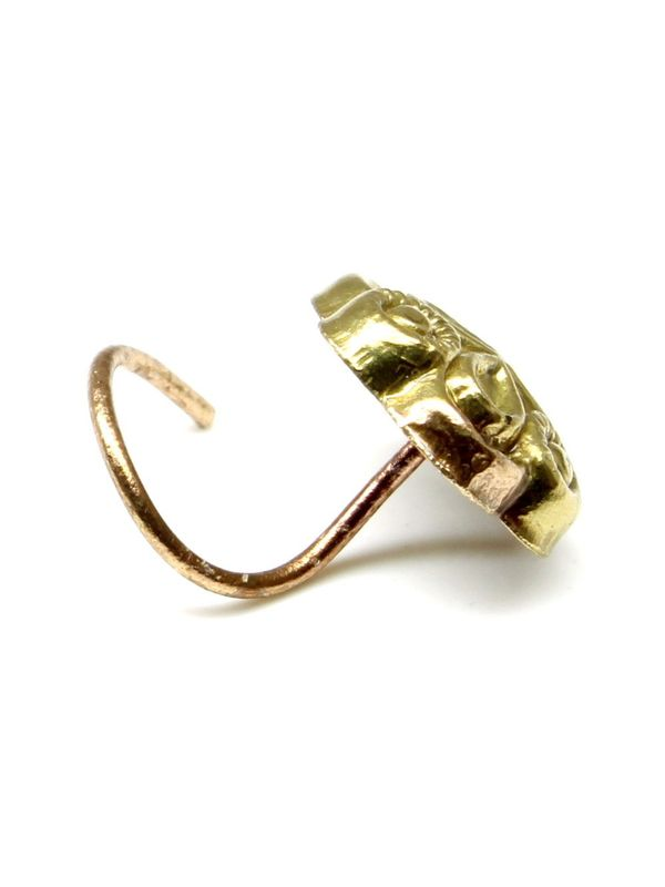Gold Corkscrew Nose Ring