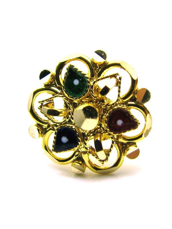 Gold Nose Stud, Flower Nose Stud, Indian nose pin, 14k 17-18g piercing Gold ring