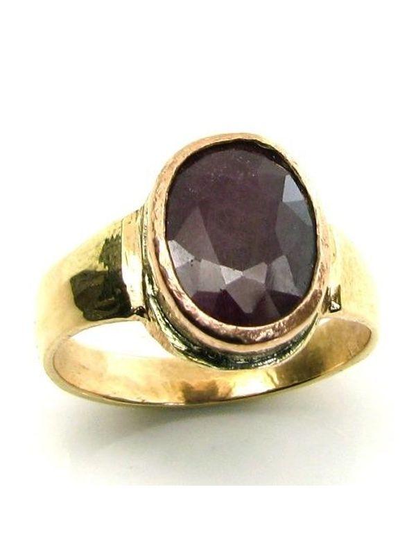 Rashi Ratna Copper Ring Ruby Manik Gem Birthstone