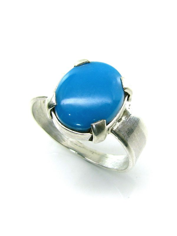 tibetan stone rings antique turquoise silver ring