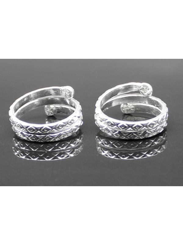 8441f38bffe Real Sterling Silver Toe Rings Indian Handmade bichia Pair foot ring. Zoom.  sold-out-image