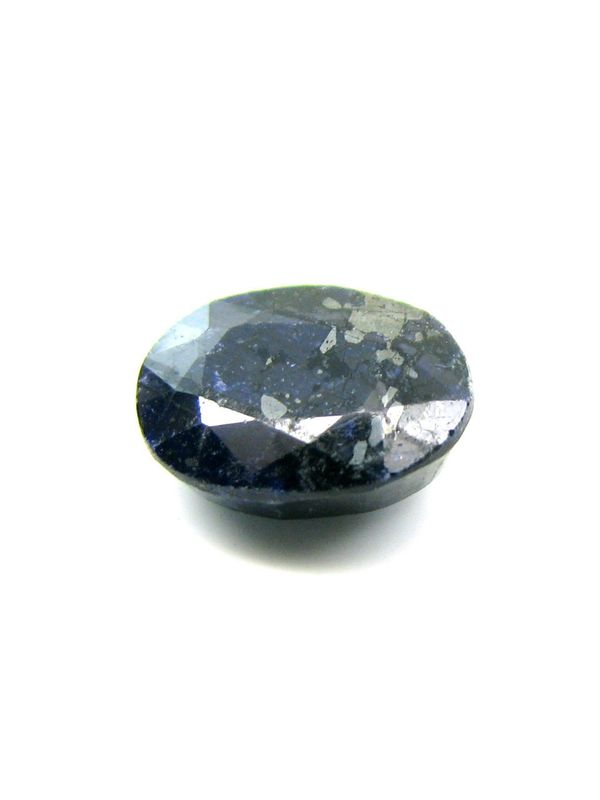 5Ct Blue Sapphire African Neelam Metal Inclusions Oval Natural Gemstone