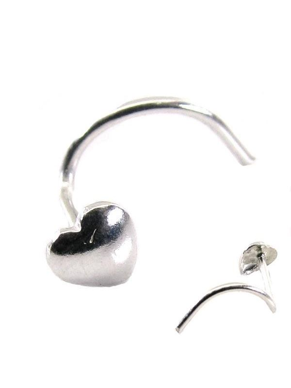 Ethnic Indian Sterling Silver Body Piercing Jewelry Nose Stud Pin Screw 20g
