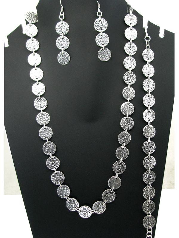 925 Sterling Silver Earrings Necklace