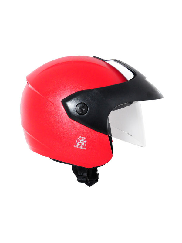 Vega Ridge With Peak Red Helmet Pack of 3