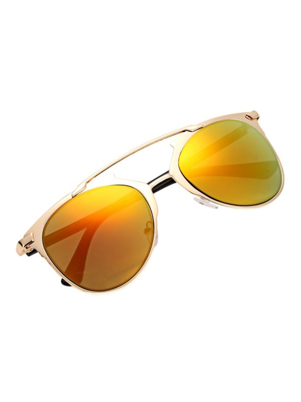 Sunset Vintage Style Double Beam Lens Sunglasses