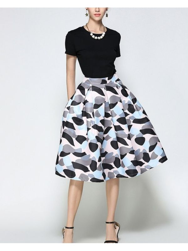 classy unique retro style aline skirt ssw7nazj062359