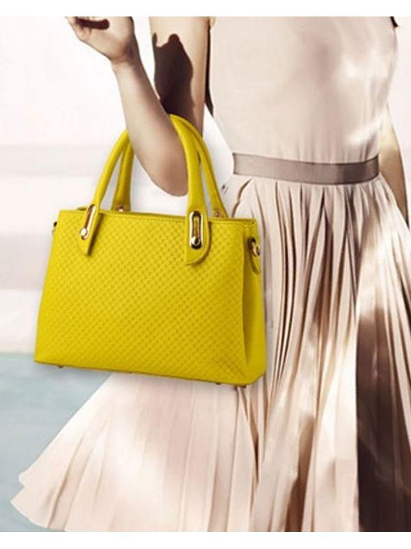 Elegant Texture Handle Bag