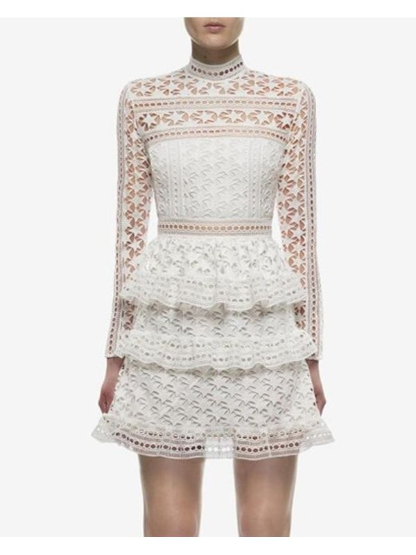 Classy New Lace Tiered Elegant Cake Dress