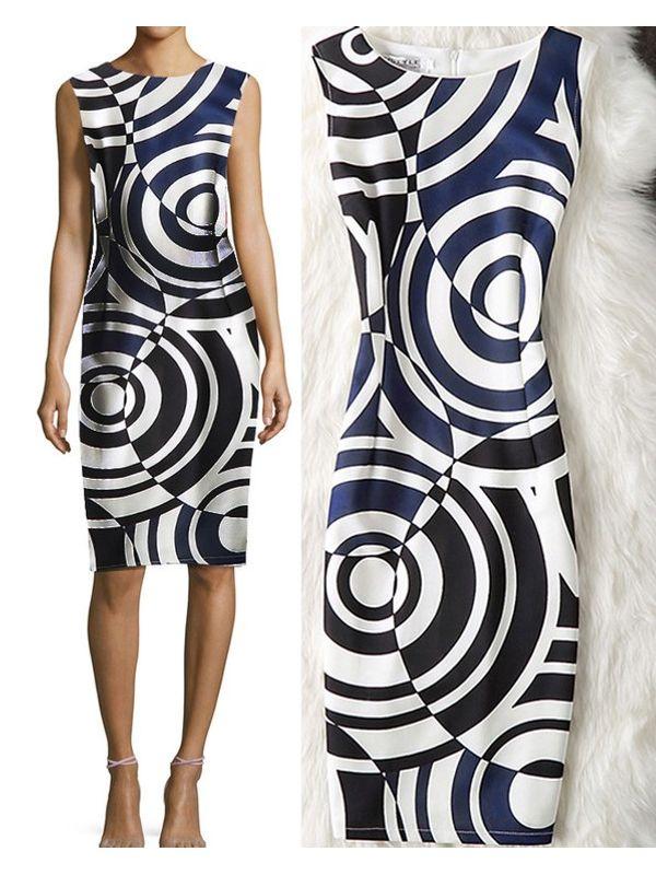 Europe Style Elegant Radial Zipper Comfort Dress