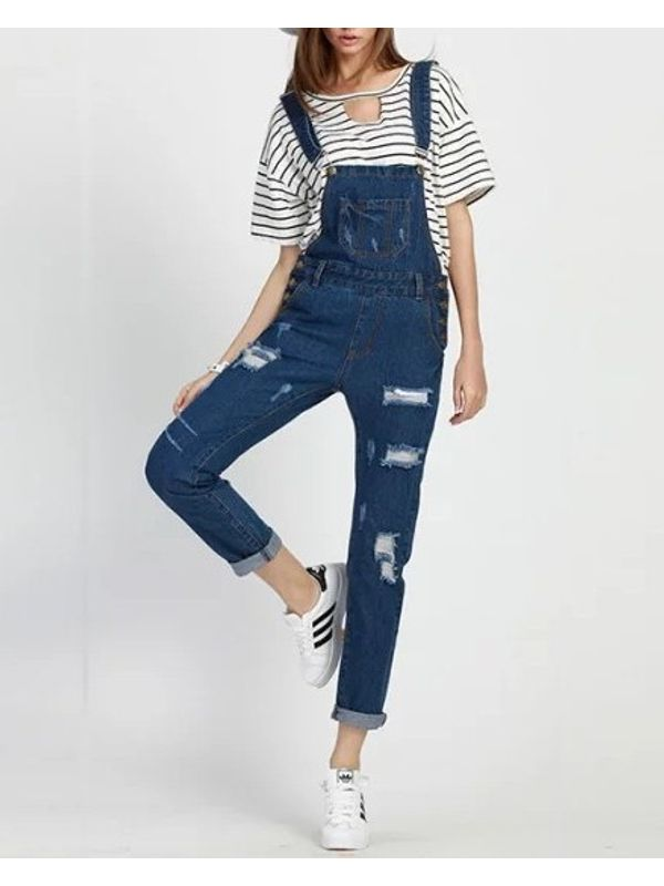 Rugged Denim Blue Jumpsuit Ships In 24 Hrs
