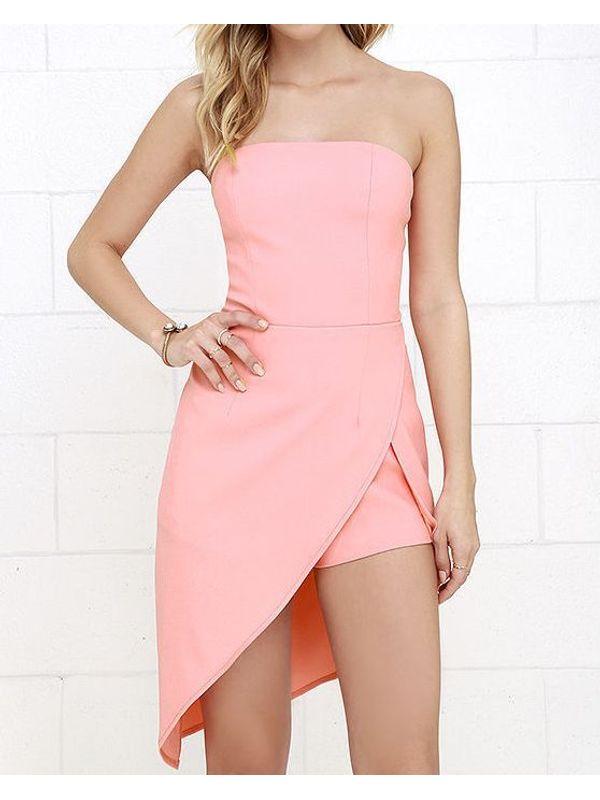 Sexy Diagonal Cut Party Dress