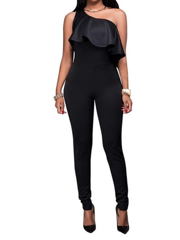 972d8ab82cd3 Home · Classy One Shoulder Ruffle Design Black Jumpsuit. Rs.200 Instant  cashback on payment by PayPal. Zoom · Classy ...