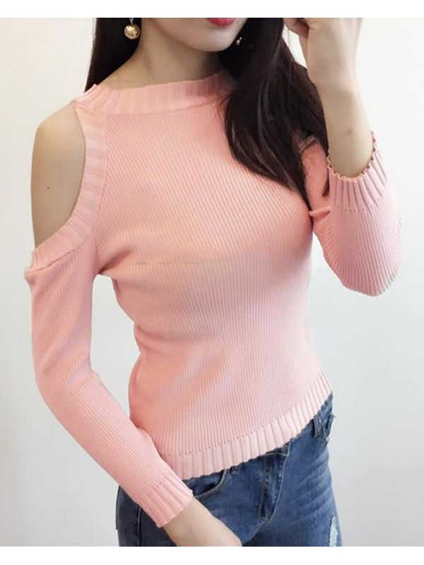Popular Sexy Off Shoulder Knitting Women Pullovers
