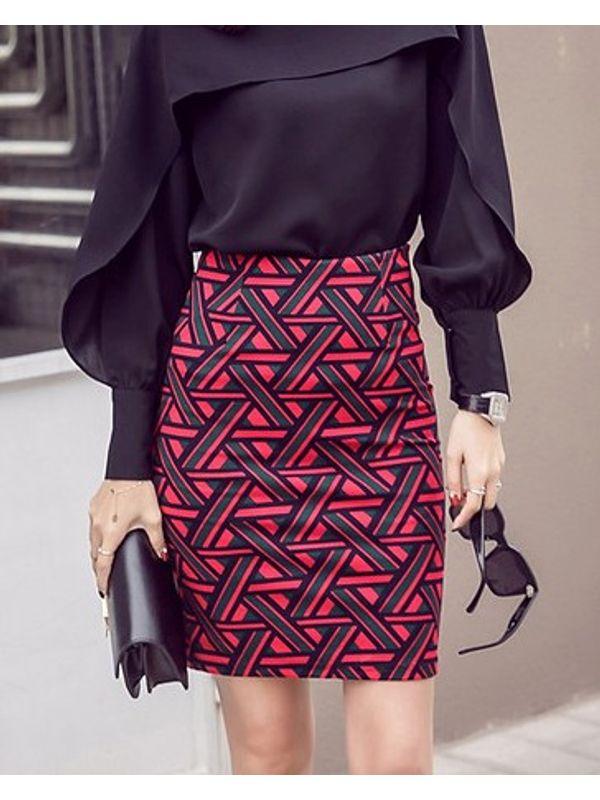 Formal Printed Wrap Skirt