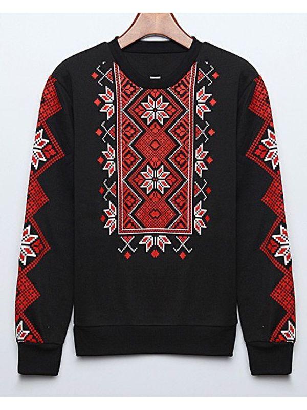 4ed1d68e8548c8 Folklore Print Cool Sweatshirt