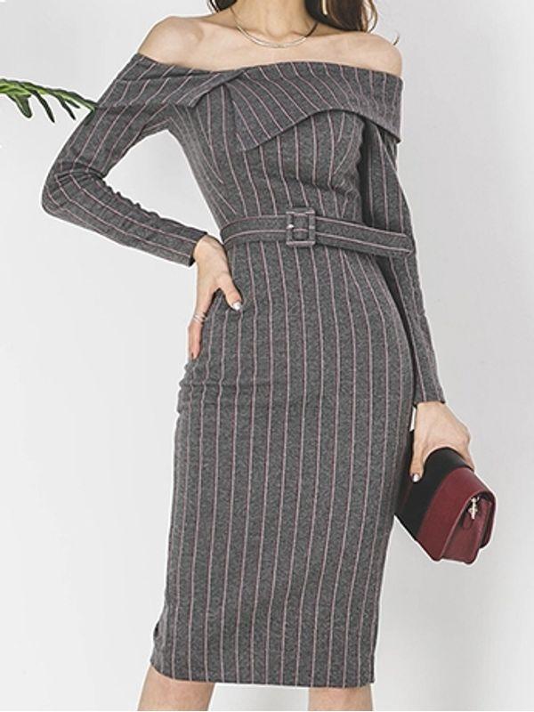 Striped Formal Dress