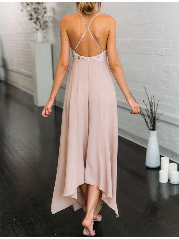 fbd0405583 Trending Celebrity Asymmetric Hem Sequined Dress