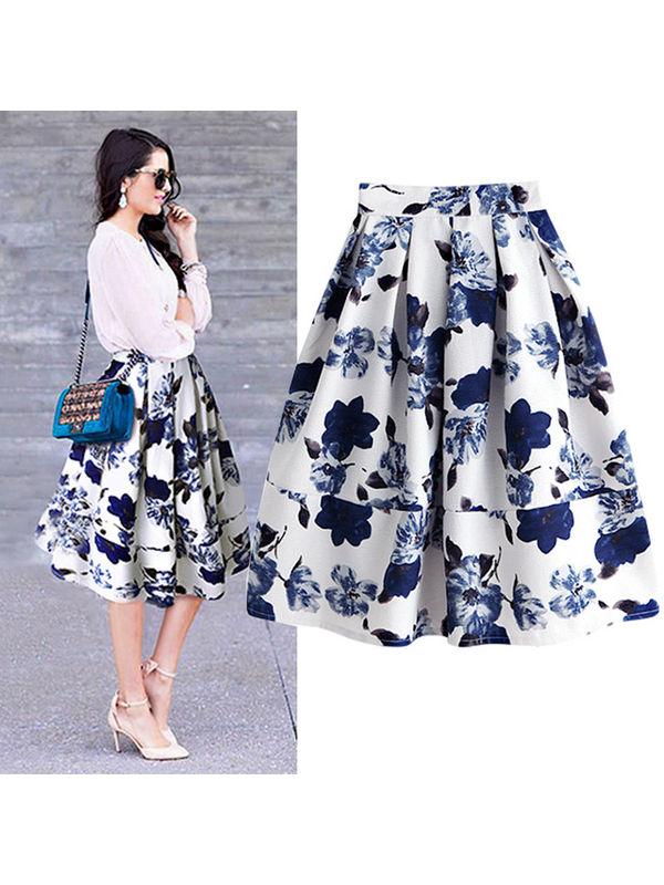 Classy Ruffle Knee Length Skirt Ssw7ncmk071425wi