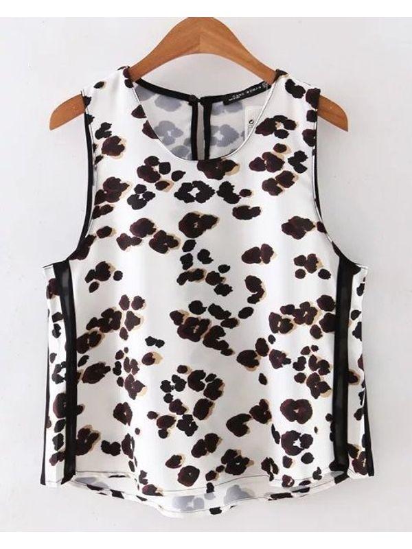 Cute Leopard Print Vest