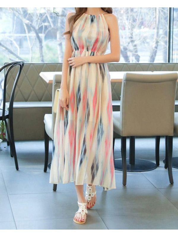 261bcd8e5e0b Bohemian Pastel Color Off Shoulder Maxi Dress