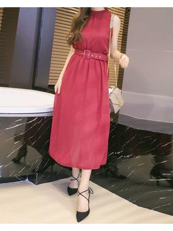 Classy Work To Party Wear Solid Maxi Dress | Ssw7ntfk052704
