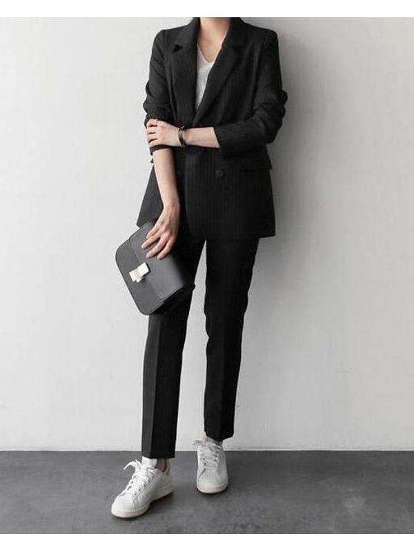 c60968100dd New Classic Look Lapel Stripe Formal Women Suit- Blazer Jacket with Pants