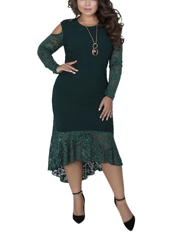 c10b0b2a319 New Cold Shoulder Long Sleeve Asymmetrical Dress - Also in Plus Size