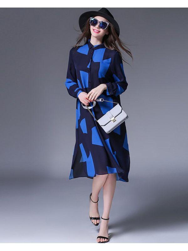 Contrast Color High Fashion Dress