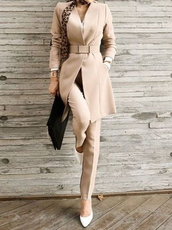 Formal Office Wear Long Sleeve Solid