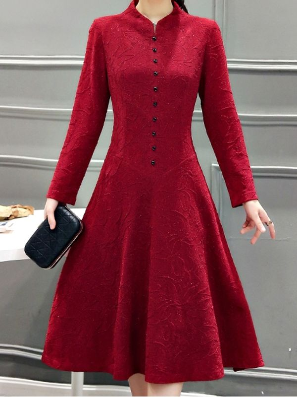 Stand Collar Dress Designs : Premium embossed fabric design and fit formal stand collar